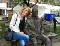Michelle with Alan Turing